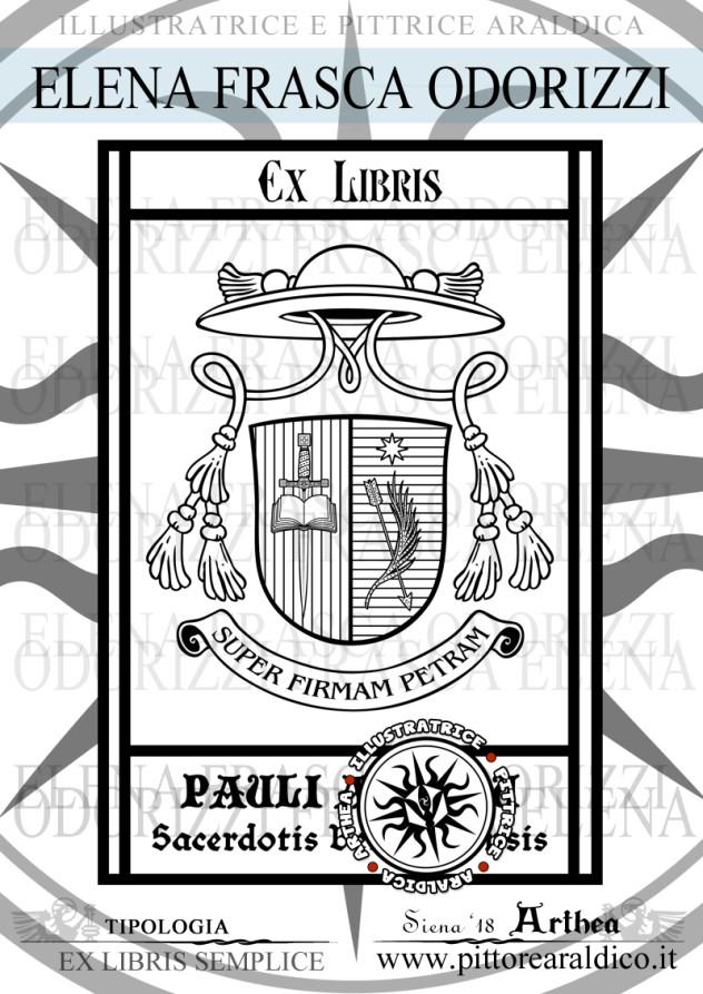ex_libris_stemma_araldico_ecclesiastico_sacerdote